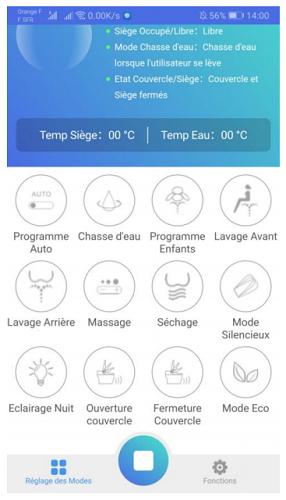 wc commandable sur smartphone